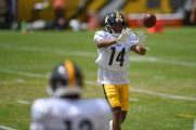 Pittsburgh Steelers wide receiver Ray-Ray McCloud (14) trains at Heinz Field during the Steelers 2020 Training Camp, Sunday, Aug. 21, 2022 in Pittsburgh, PA. (Caitlyn Epes / Pittsburgh Steelers)
