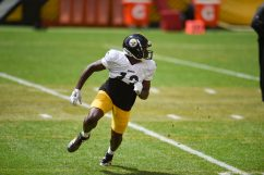 Pittsburgh Steelers wide receiver James Washington (13) trains at Heinz Field during the Steelers 2020 Training Camp, Monday, Aug. 24, 2020 in Pittsburgh, PA. (Caitlyn Epes / Pittsburgh Steelers)