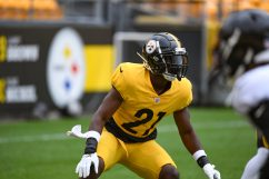 Pittsburgh Steelers safety John Battle (21) trains at Heinz Field during the Steelers 2020 Training Camp, Monday, Aug. 31, 2020 in Pittsburgh, PA. (Karl Roser / Pittsburgh Steelers)