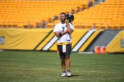 Pittsburgh Steelers quarterback Ben Roethlisberger (7) trains at Heinz Field during the Steelers 2020 Training Camp, Wednesday, Aug. 19, 2020 in Pittsburgh, PA. (Karl Roser / Pittsburgh Steelers)