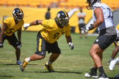 Pittsburgh Steelers defensive tackle Cameron Heyward (97) trains at Heinz Field during the Steelers 2020 Training Camp, Wednesday, Aug. 19, 2020 in Pittsburgh, PA. (Karl Roser / Pittsburgh Steelers)