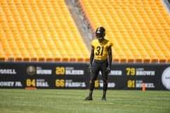 Pittsburgh Steelers cornerback Justin Layne (31) trains at Heinz Field during the Steelers 2020 Training Camp, Wednesday, Aug. 19, 2020 in Pittsburgh, PA. (Karl Roser / Pittsburgh Steelers)
