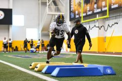 Pittsburgh Steelers wide receiver Anthony Johnson (83) trains at the UPMC Rooney Sports Complex during the Steelers 2020 Training Camp, Tuesday, Aug. 25, 2020 in Pittsburgh, PA. (Karl Roser / Pittsburgh Steelers)