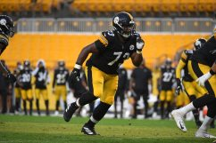 Pittsburgh Steelers defensive tackle Carlos Davis (73) trains at Heinz Field during the Steelers 2020 Training Camp, Friday, Aug. 28, 2020 in Pittsburgh, PA. (Karl Roser / Pittsburgh Steelers)