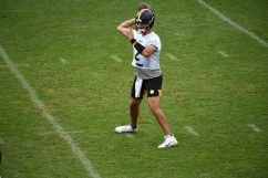 Pittsburgh Steelers quarterback Mason Rudolph (2) practices at the UPMC Rooney Sports Complex preparing for a Week 1 matchup against the New York Giants, Saturday, Sept. 12, 2020 in Pittsburgh, PA. (Caitlyn Epes / Pittsburgh Steelers)