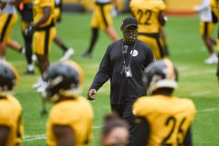 Pittsburgh Steelers Head Coach Mike Tomlin trains at Heinz Field during the Steelers 2020 Training Camp, Wednesday, Sept. 2, 2020 in Pittsburgh, PA. (Caitlyn Epes / Pittsburgh Steelers)