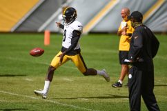 Pittsburgh Steelers punter Corliss Waitman (8) trains at Heinz Field during the Steelers 2020 Training Camp, Friday, Sept. 4, 2020 in Pittsburgh, PA. (Caitlyn Epes / Pittsburgh Steelers)