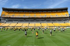 The Pittsburgh Steelers train at Heinz Field during the Steelers 2020 Training Camp, Friday, Sept. 4, 2020 in Pittsburgh, PA. (Caitlyn Epes / Pittsburgh Steelers)