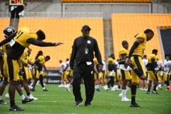 Pittsburgh Steelers Head Coach Mike Tomlin trains at Heinz Field during the Steelers 2020 Training Camp, Wednesday, Sept. 2, 2020 in Pittsburgh, PA. (Karl Roser / Pittsburgh Steelers)