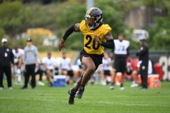 Pittsburgh Steelers cornerback Cameron Sutton (20) practices at the UPMC Rooney Sports Complex preparing for a Week 1 matchup against the New York Giants, Monday, Sept. 7, 2020 in Pittsburgh, PA. (Karl Roser / Pittsburgh Steelers)