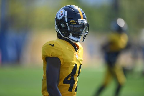 Pittsburgh Steelers cornerback James Pierre (42) practices at the UPMC Rooney Sports Complex preparing for a Week 1 matchup against the New York Giants, Wednesday, Sept. 9, 2020 in Pittsburgh, PA. (Karl Roser / Pittsburgh Steelers)