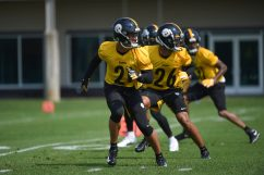 Pittsburgh Steelers defensive back Tre Norwood (21) participates in the Organized Team Activities (OTAs), Tuesday May 25, 2021 at the UPMC Rooney Sports Complex. (Caitlyn Epes / Pittsburgh Steelers)