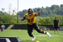 Pittsburgh Steelers defensive end Isaiahh Loudermilk (92) participates in the Organized Team Activities (OTAs), Tuesday May 25, 2021 at the UPMC Rooney Sports Complex. (Karl Roser / Pittsburgh Steelers)