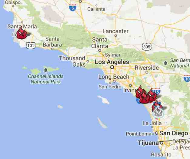 wildfire map low res