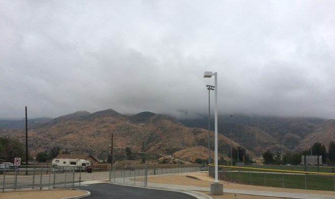 Clouds covering San Jacinto Mountain