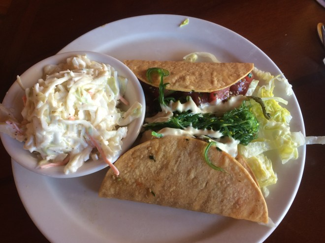 Ahi tuna tacos from The Buzzard's Roost, Key West