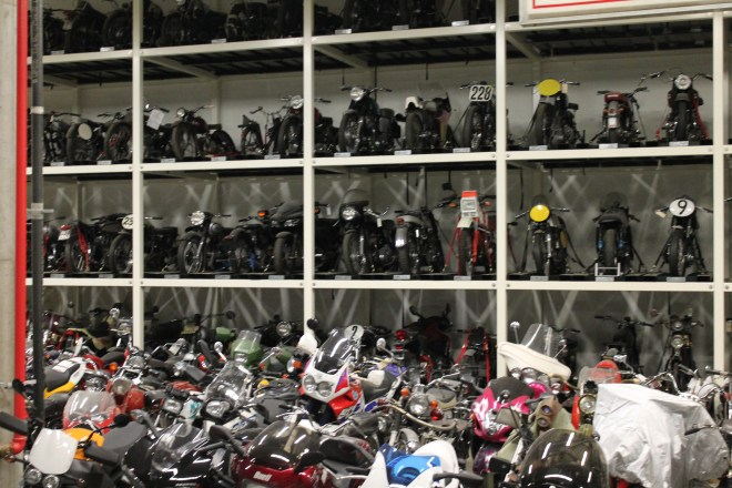 Basement warehousing of approximately 500 motorcycles