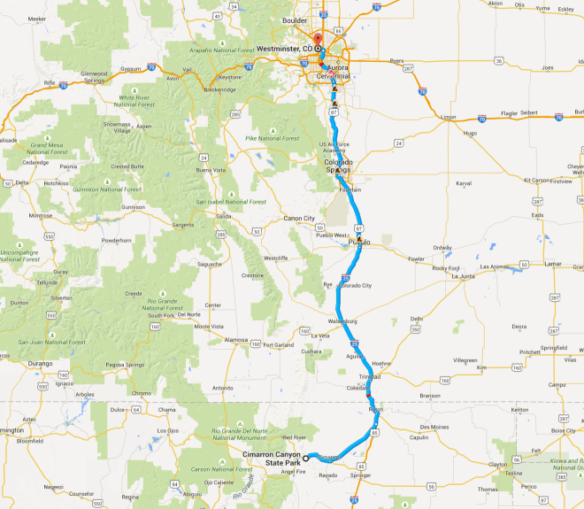 Day 58 Route