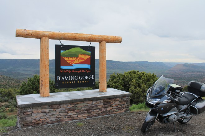 Flaming Gorge scenic viewpoint off Hwy 191