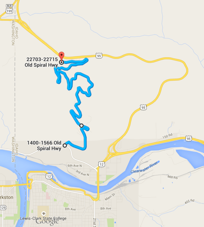 Old Spiral Highway, Lewiston Idaho