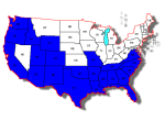 SST States of the US map