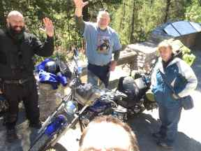 Forrest, Tim, and SueAnn (and my forehead taking up the foreground)