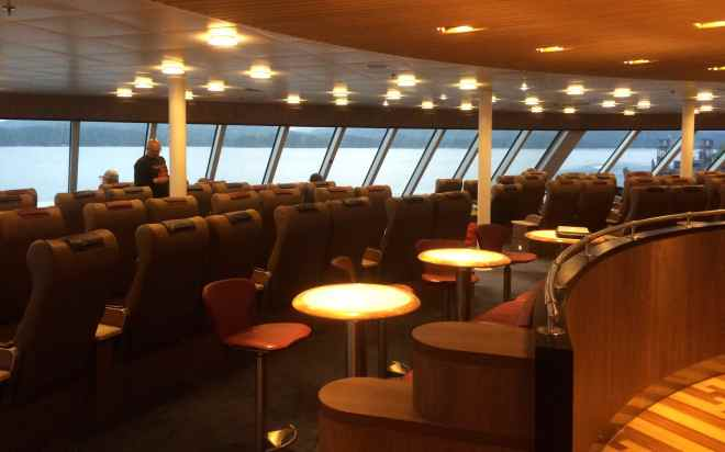 Aurora Lounge onboard the BC Ferry