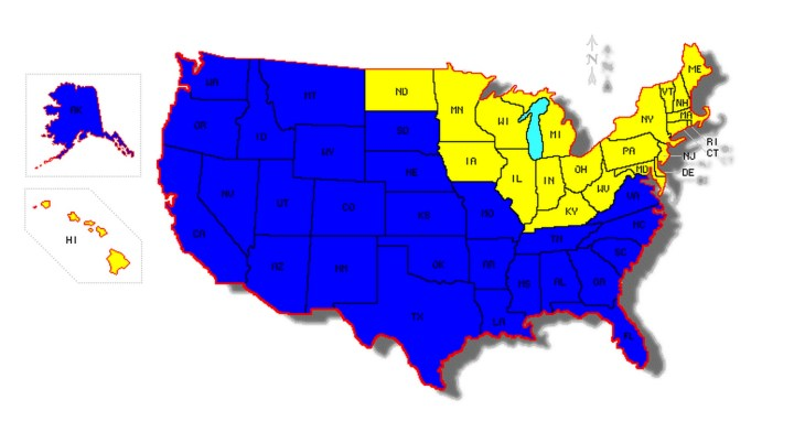 States visited