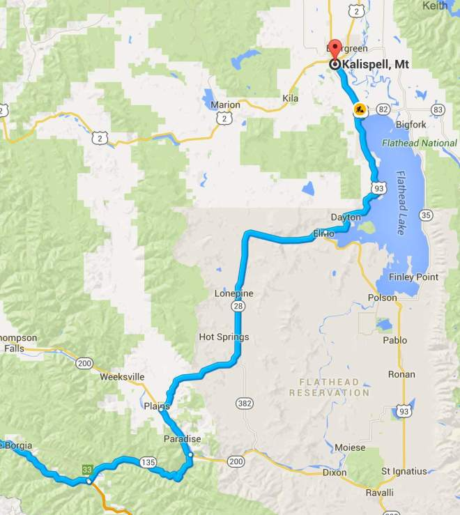 Day 1 Route - close up