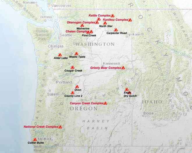 Active Northwest Forest Fires