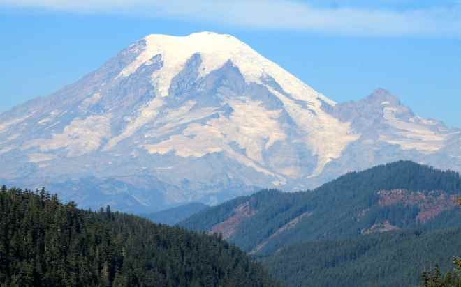 Mt Rainier from Hwy 12 near White Pass