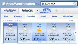 Seattle's extended forecast
