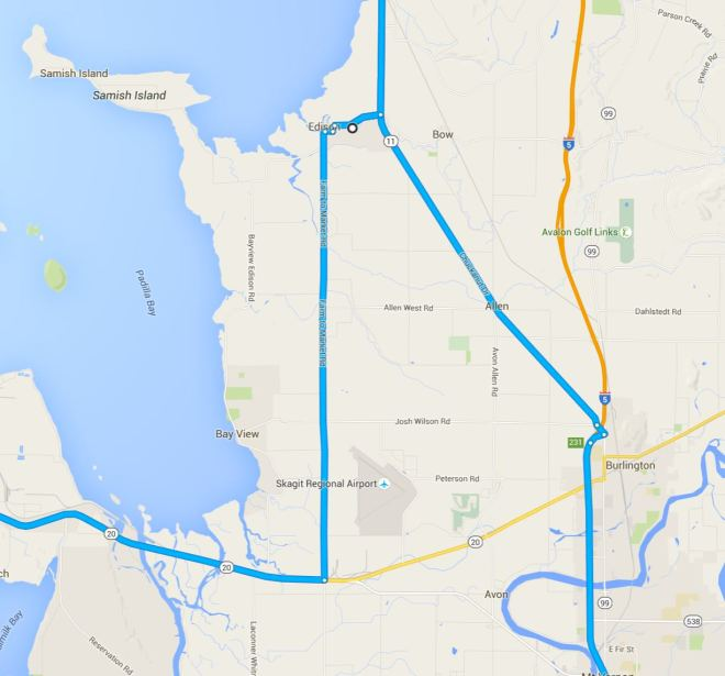 Route Close up