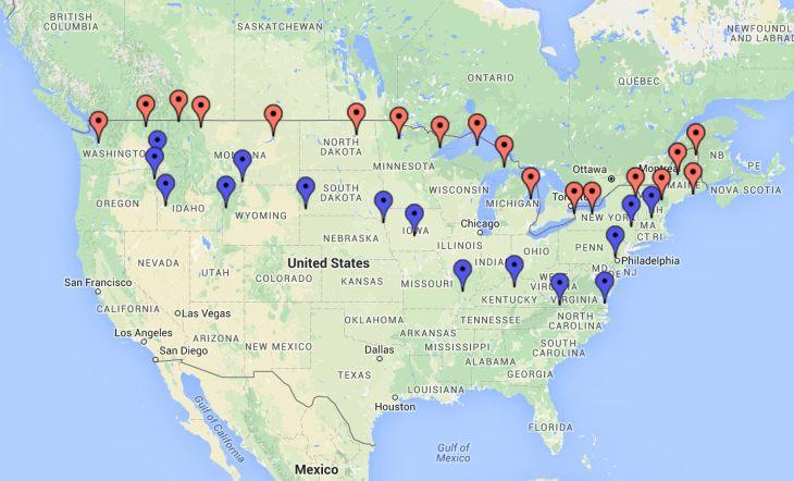 Northern States Tour - Zeemaps