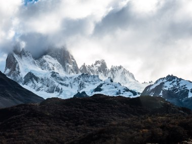 Fitz Roy, in clouds.
