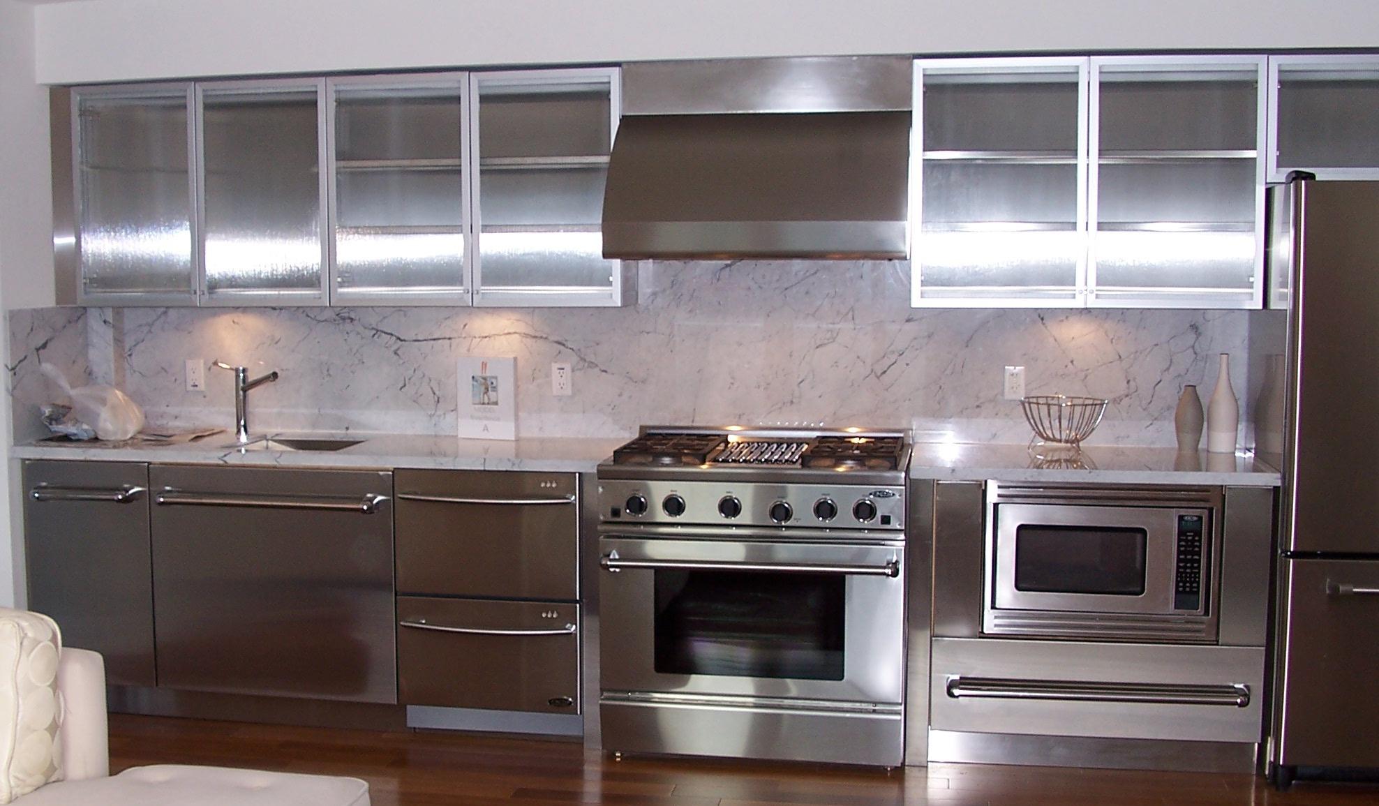 Best Kitchen Gallery: Stainless Steel Kitchen Cabi S Steelkitchen of Metal Cabinets Kitchen on rachelxblog.com