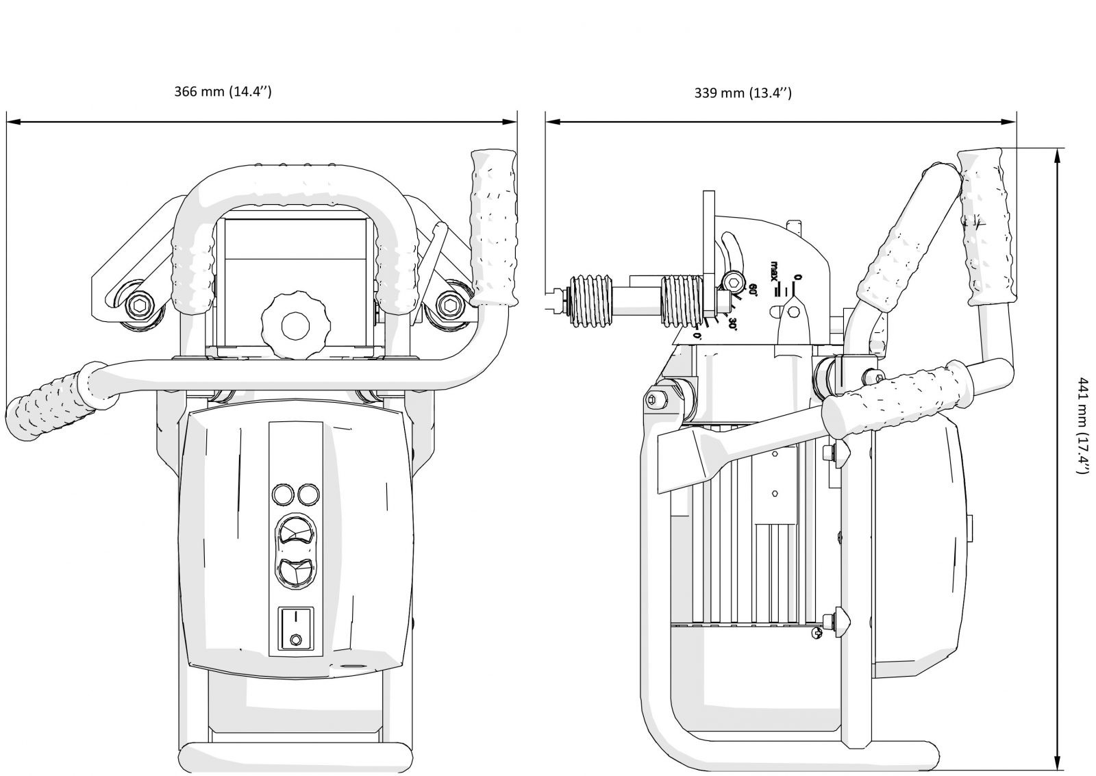 Portable Bevelling Machine For Stainless Steel