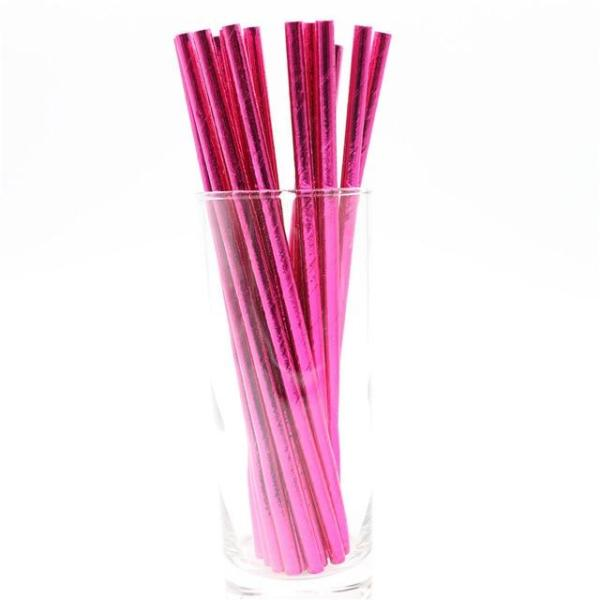 Colored Paper Drinking Straws