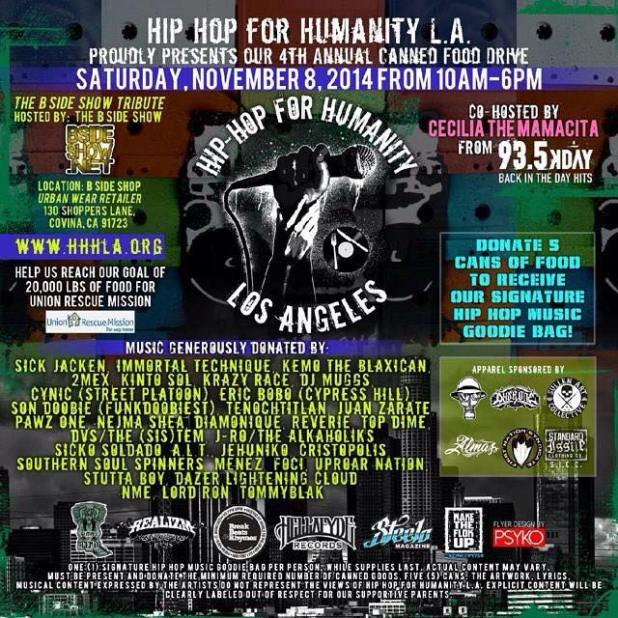 Hip Hop for Humanity Nov 8th