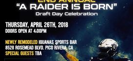 The Black Hole LA – NFL Draft Day Event – April 26th 2018
