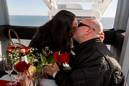 A.C.'s Observation Wheel hosts first engagement