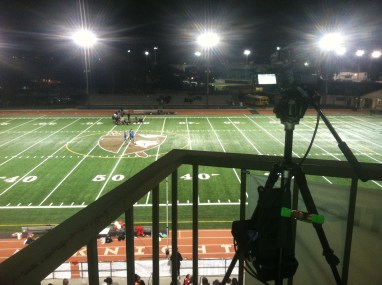 shooting a soccer game