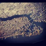 flying over Manhattan