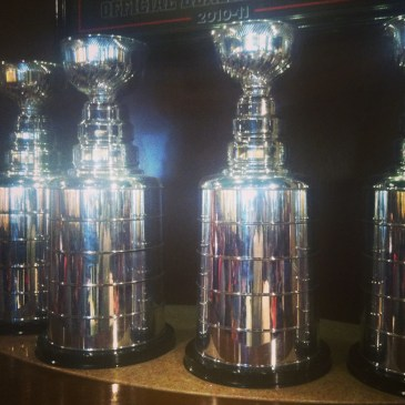 Chicago Blackhawks cups at O'hare