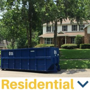An image of a residential dumpster rental in Brandon FL