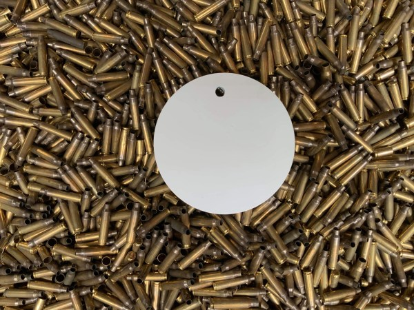 150mm round plinker target in AR500
