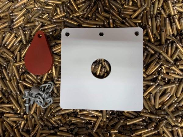 200mm bullseye target in AR500