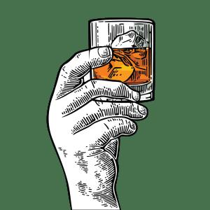 Rum Black and White Hand