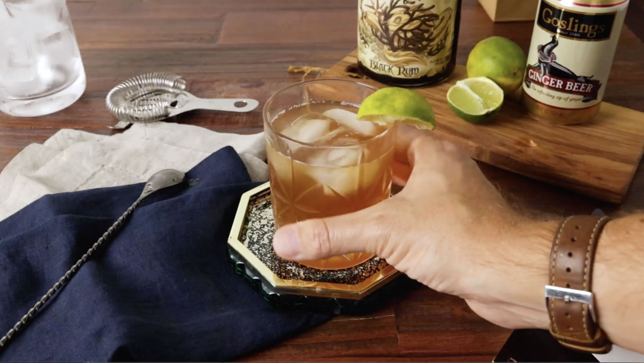 Black and Stormy Rum Cocktail