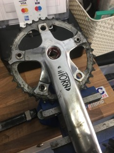 A Tandem crank needed some surgery